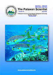 July 2018 issue of The Palawan Scientist is now available